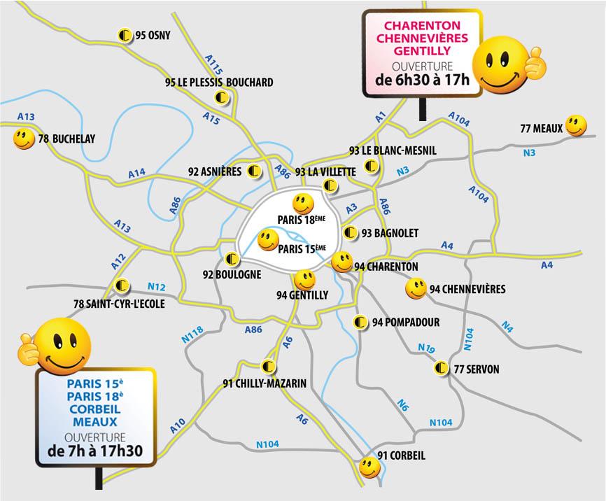 19 points de vente en ile de France