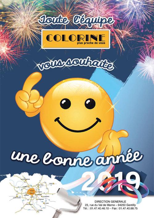Colorine vous souhaite une excellente nouvelle année 2019