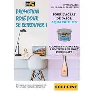 [#PROMOS] ⛱ C'EST L'ÉTÉ CHEZ #COLORINE ! Du 15 juin au 28 août 2020, repartez avec une bouteille de rosé* pour l'achat de peinture Aquaprim M5 ou de Straliet Hydro ! 😉Voir conditions en magasin *𝐿'𝑎𝑏𝑢𝑠 𝑑'𝑎𝑙𝑐𝑜𝑜𝑙 𝑒𝑠𝑡 𝑑𝑎𝑛𝑔𝑒𝑟𝑒𝑢𝑥 𝑝𝑜𝑢𝑟 𝑙𝑎 𝑠𝑎𝑛𝑡𝑒́. 𝐶𝑜𝑛𝑠𝑜𝑚𝑚𝑒𝑧 𝑎𝑣𝑒𝑐 𝑚𝑜𝑑𝑒́𝑟𝑎𝑡𝑖𝑜𝑛.