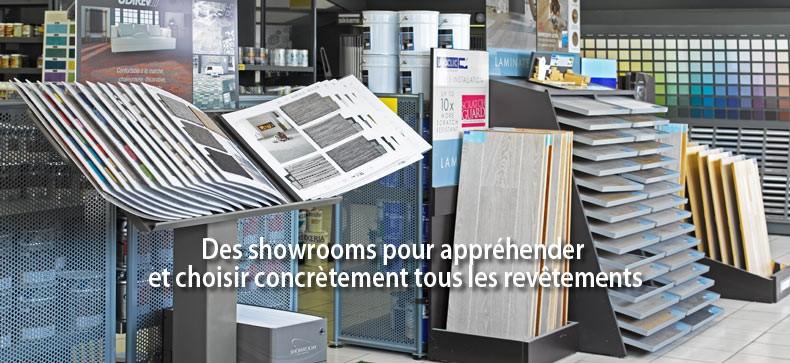 Des showrooms pour appréhender et choisir concrètement tous les revêtements